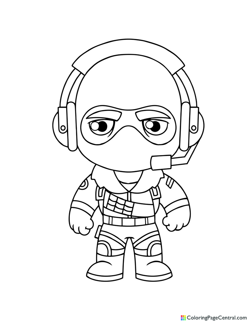 Fortnite Raptor Chibi Coloring Page Coloring Page Central