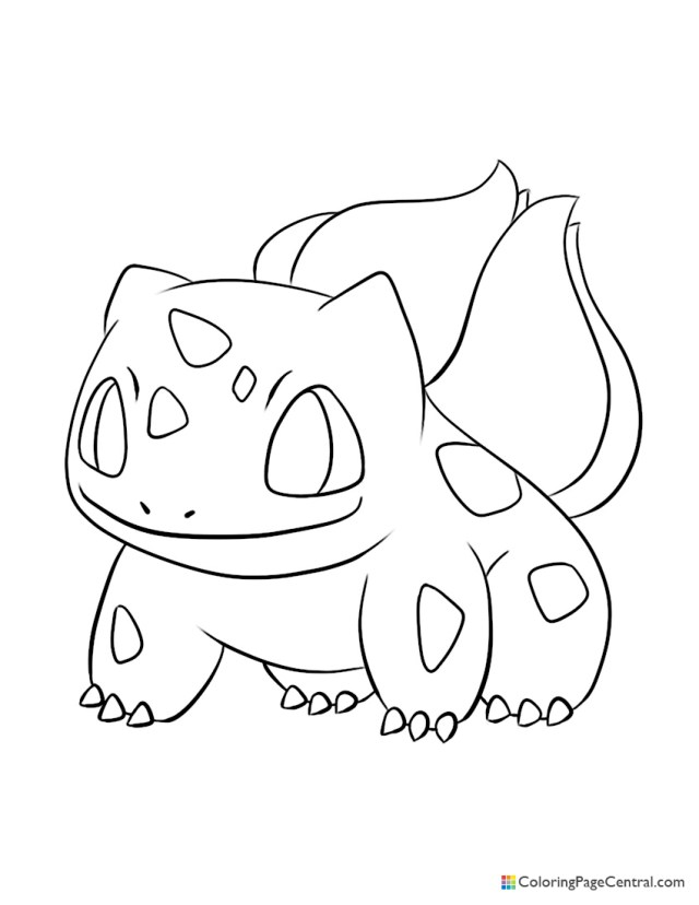 Pokemon - Bulbasaur 19 Coloring Page  Coloring Page Central