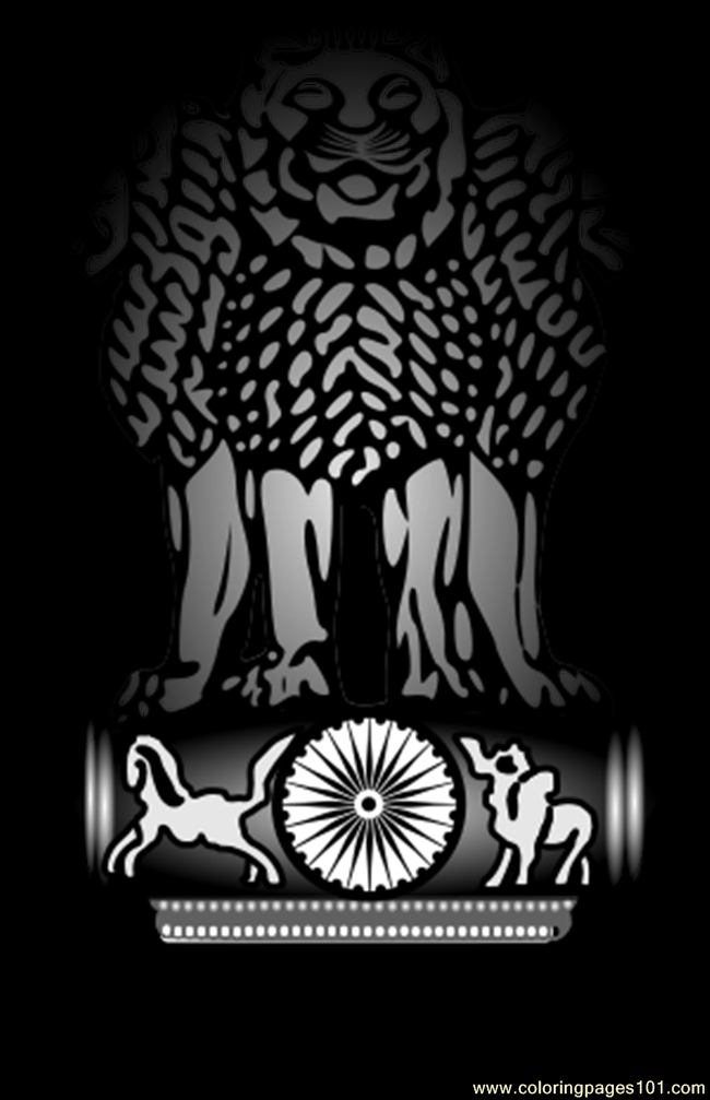 Emblem Of Indiasvg Coloring Page Free India Coloring