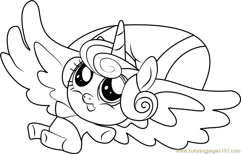 My Little Pony Baby Flurry Heart Coloring Pages Novocom Top