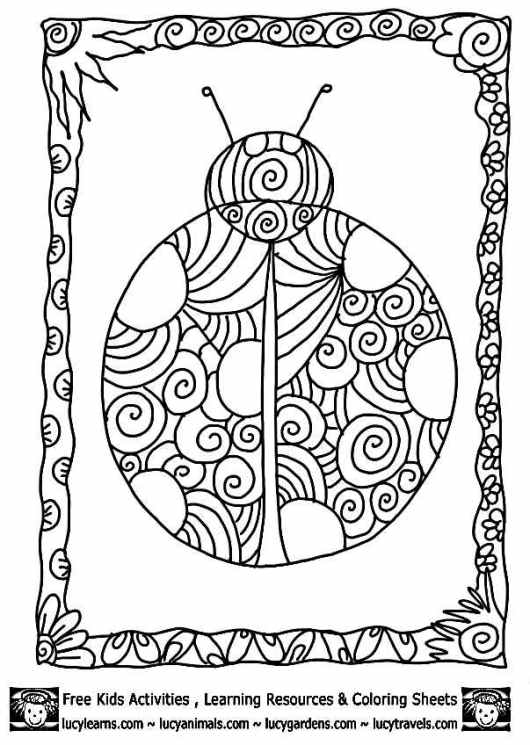 Ladybugs Coloring Pages For Kids