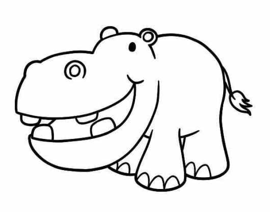smile hippopotamus coloring pages free