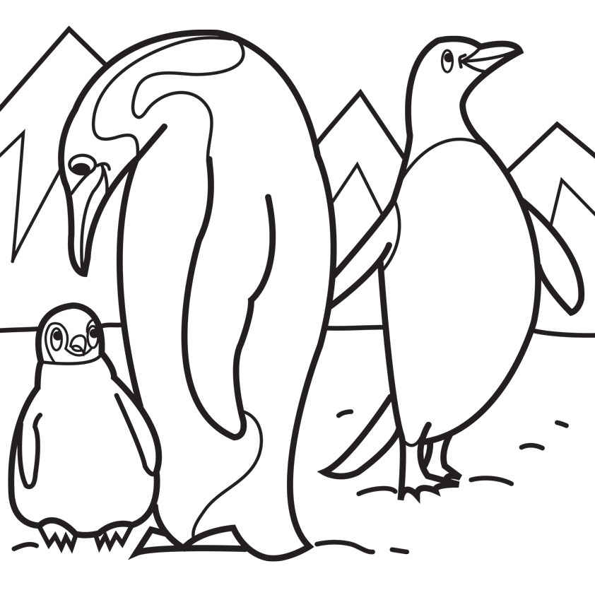 coloring page of emperor penguin