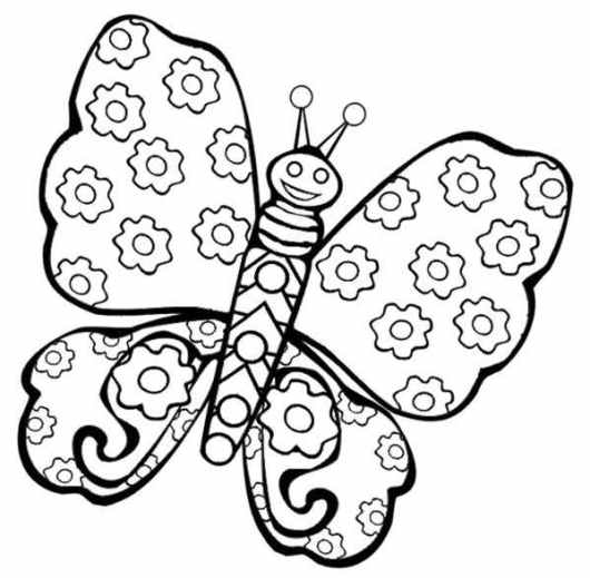 free printable coloring pictures of butterflies