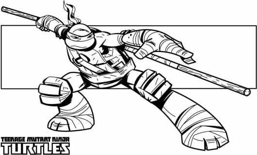 teenage mutant ninja turtles coloring pages donatello