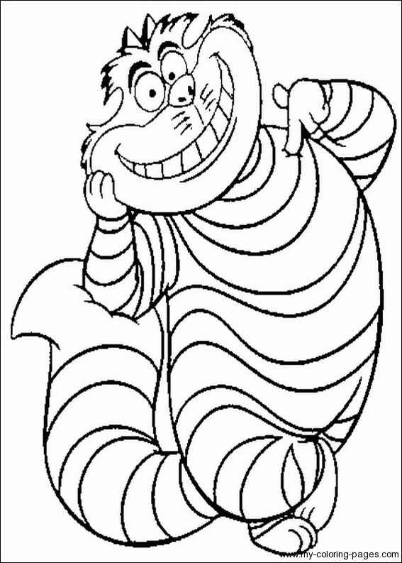 cat from alice in wonderland coloring pages