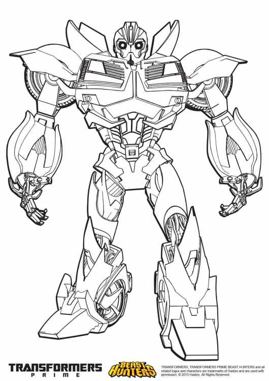 transformers bumblebee coloring pages free