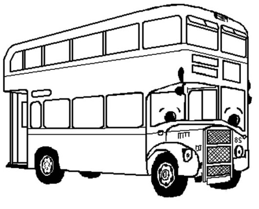 coloring pages bus - photo#27