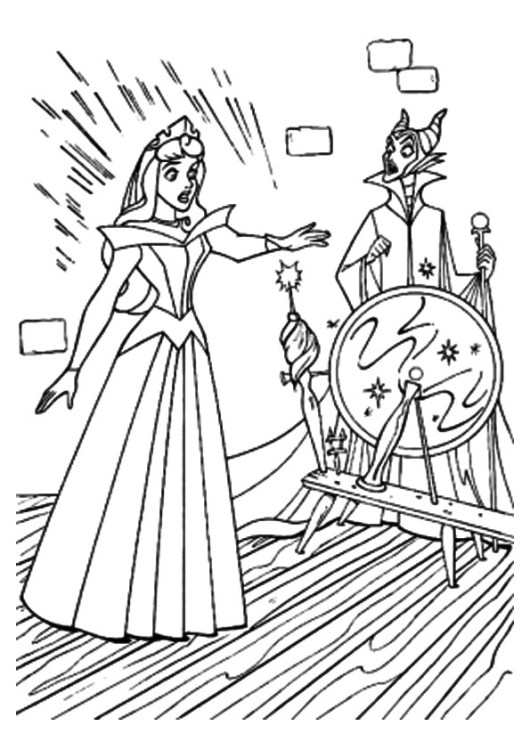 The-Aurora-Pricks-the-Spindle-coloring-pages