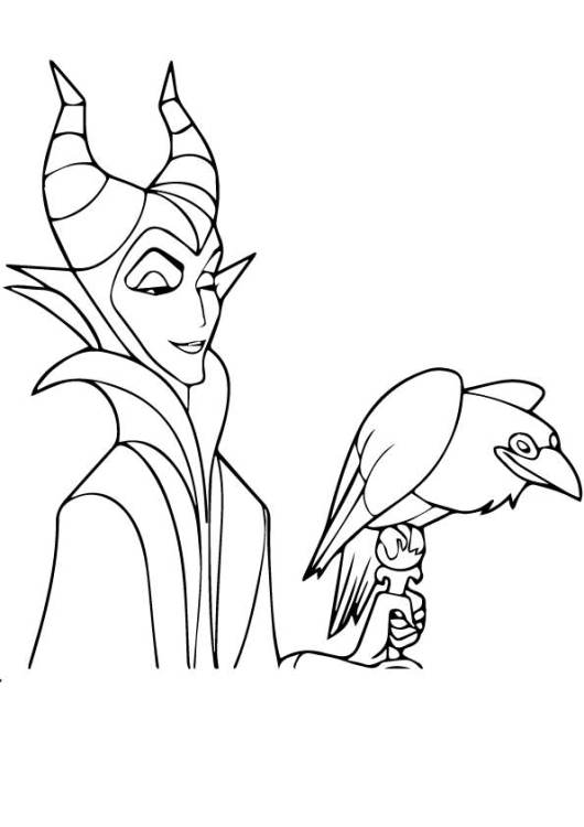 The-maleficent-coloring-pages