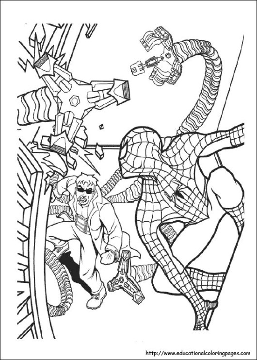 spiderman_fights_coloring_pages