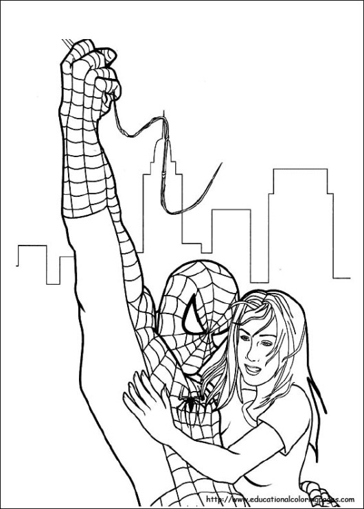 spiderman_helps_a_girl_coloring_pages