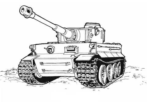 tank of army coloring pages