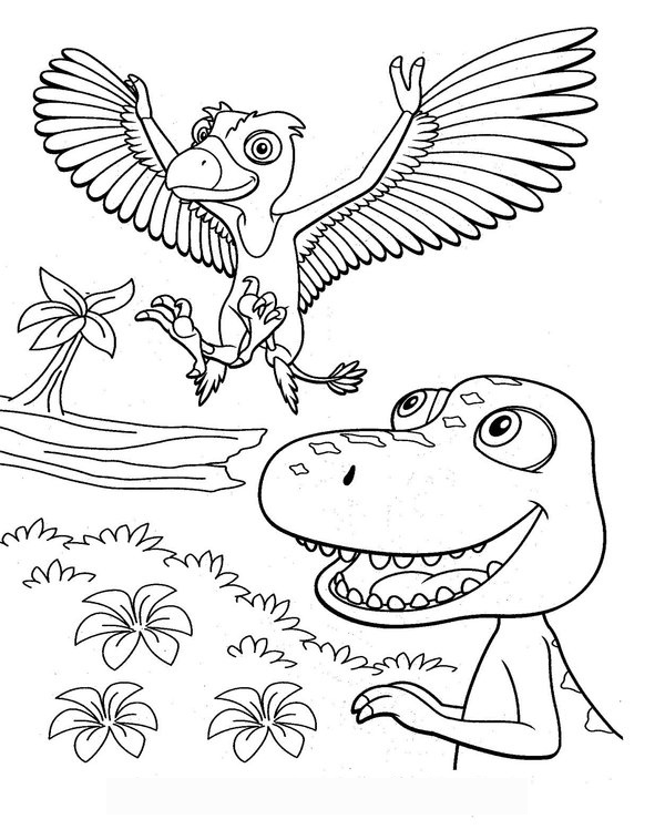 Benefits of Dinosaur Train Coloring Pages for Kids