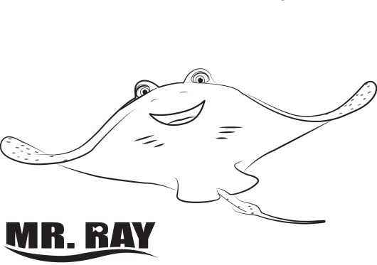 ray-finding-dory-coloring-pages