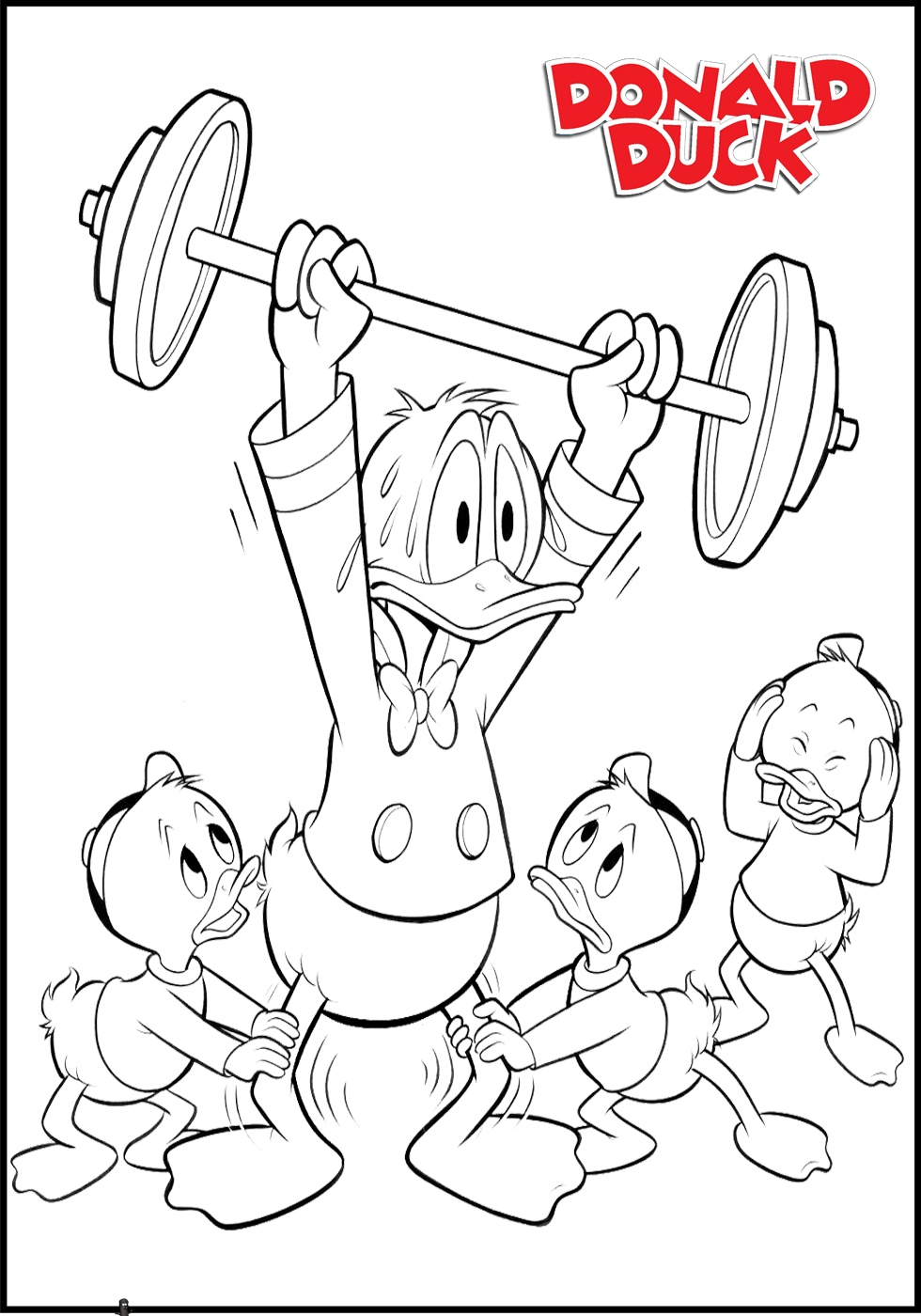 donald-duck-and-his-nephiews-coloring-pages