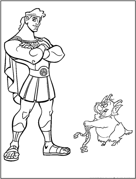 Hercules Coloring Pages For Boys