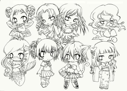 chibi-groups-coloring-pages