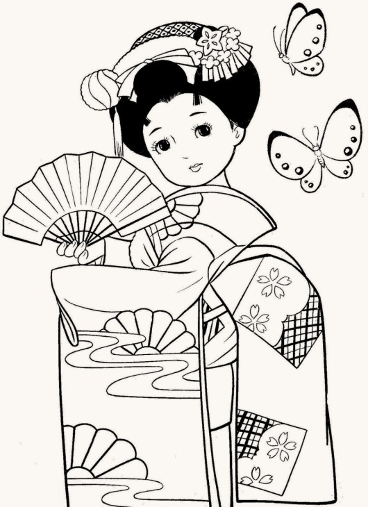 beatiful-geisha-coloring-pages