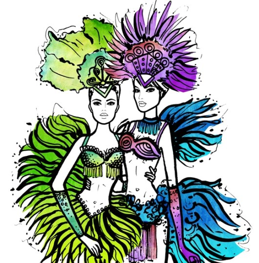 brazil-carnival-costumes-in-drawing