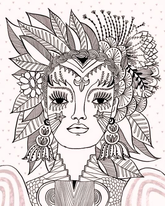 carnival-flora-themed-coloring-pages