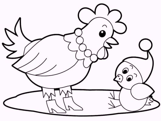 chicken-and-babies-coloring