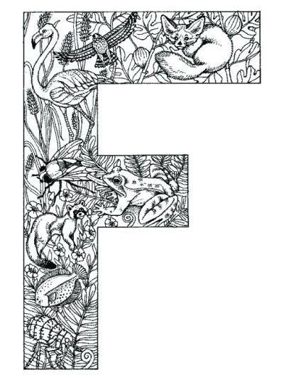 coloring_pages_animal_plant_abc_alphabet_F