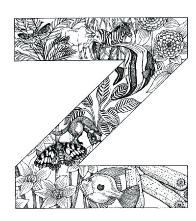 coloring_pages_animal_plant_abc_alphabet_Z