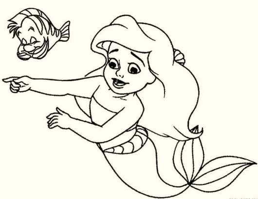 Baby-The-Little-Mermaid-Coloring-Pages-Printable