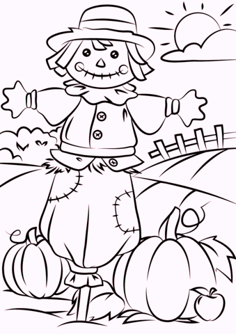 autumn-fall-scarecrow-coloring-page