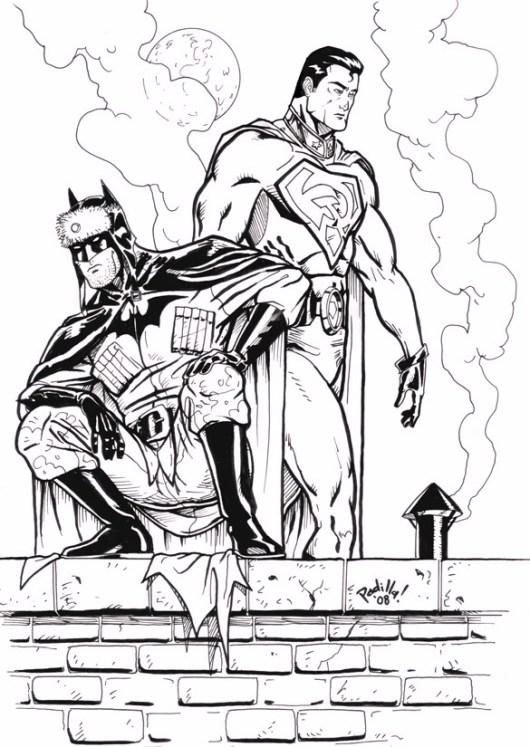 DC Comics Batman VS Superman Coloring