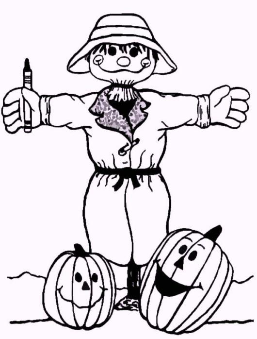 farm-harvest-time-scarecrow-coloring-pages