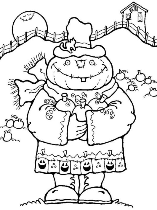 halloween-fall-Scarecrow-Coloring-Pages