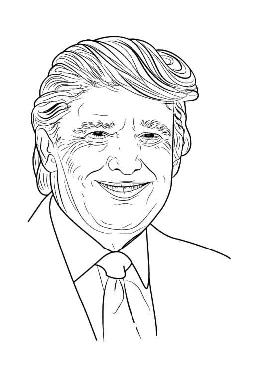 donald-trump-draw-coloring-page