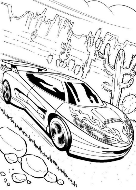 racing-car-on-the-road-coloring-page