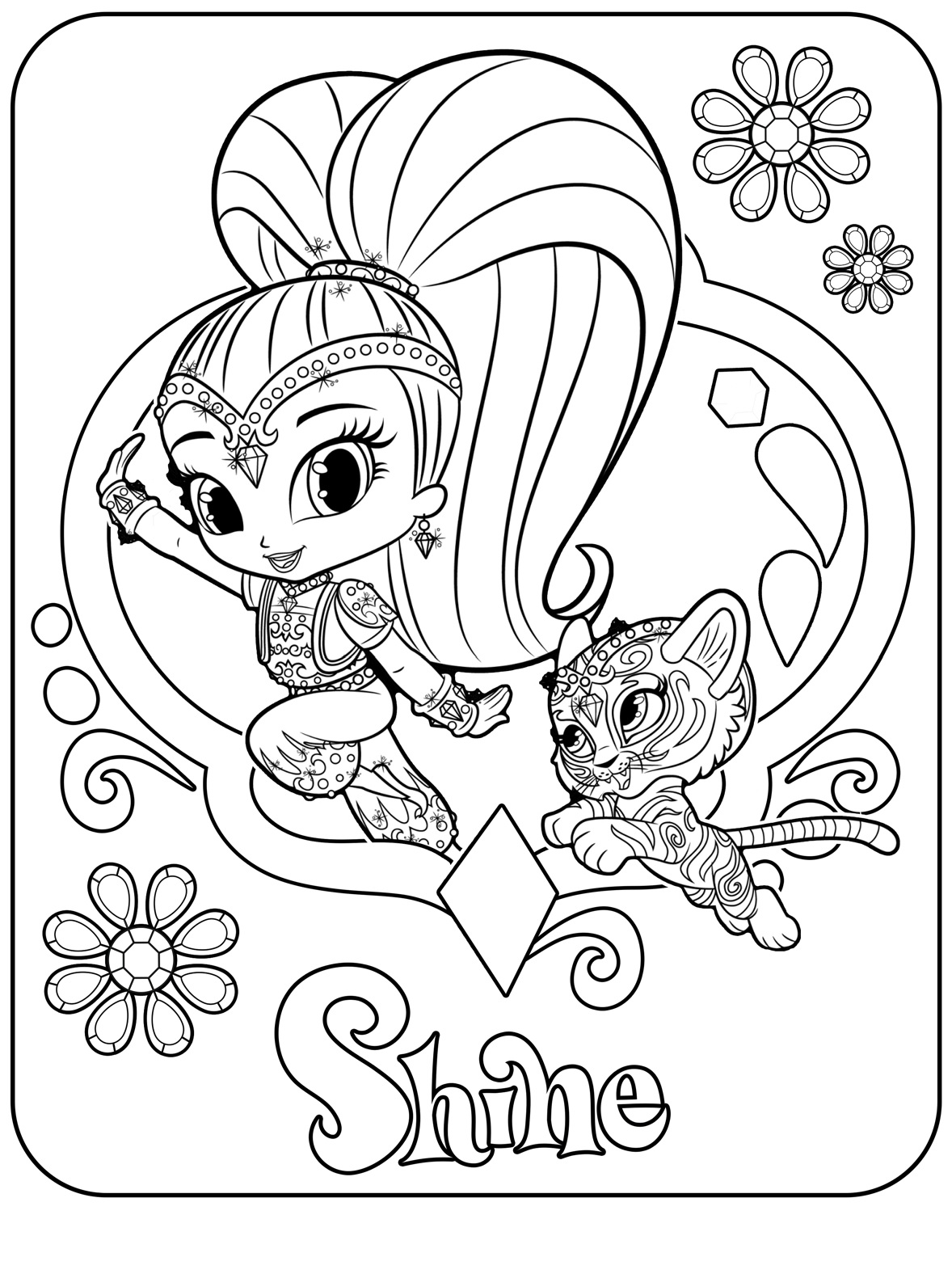 Shine Spring Time Coloring Book