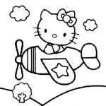 Hello-Kitty-as-a-pilot-Coloring-Pages