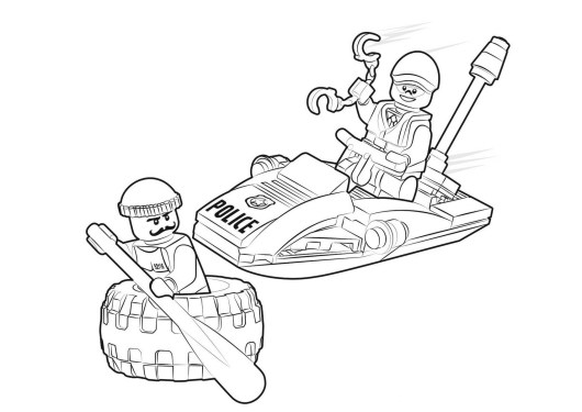city police lego coloring pages - photo#16