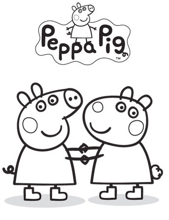peppa pig friends coloring pages - peppa pig nick jr coloring pages coloring pages