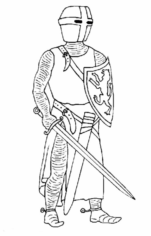 The-new-knight-coloring-page