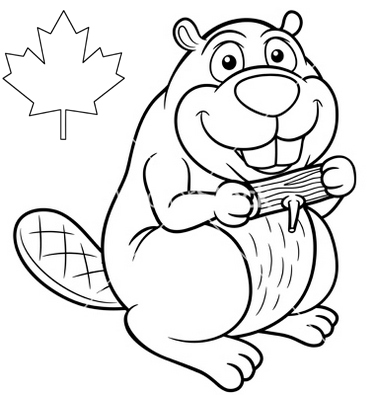 canada-beaver-print-out-drawing