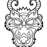 chinese dragon mask clip art