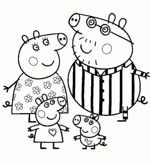 Peppa Pig Nick Jr Coloring Pages