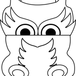 dragon mask coloring sheet