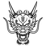 Dragon-mask-print-out-drawing