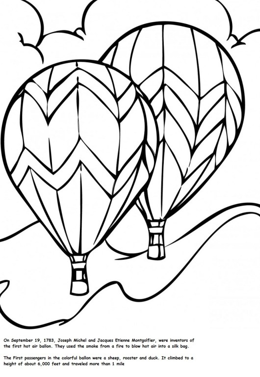 Top 14 Hot Air Balloon Coloring Pages  Coloring Pages