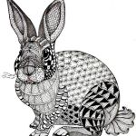 rabbit-zentangle-art-worksheet