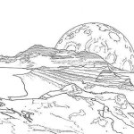 Legendary Landscapes Coloring Book Space Explorations
