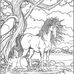 Winged Fantasy Coloring Book Unicorn