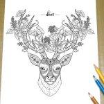 deer-zentangle-coloring-page